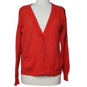 ICHI Sweater Cardigan Button Down Diamond